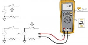 3000FC Fluke wireless multimeter measuring Ac & Dc current set-up