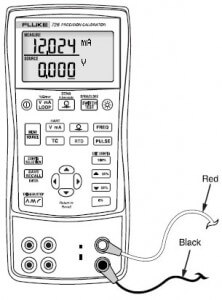 measurement set up of Voltage or current with fluke 726