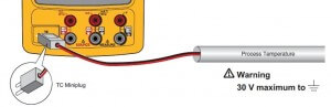 Measurement set up of Temperature using thermocouples with Fluke 754 calibrator