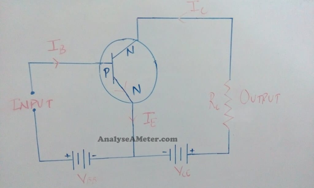 NPN common emitter configuration