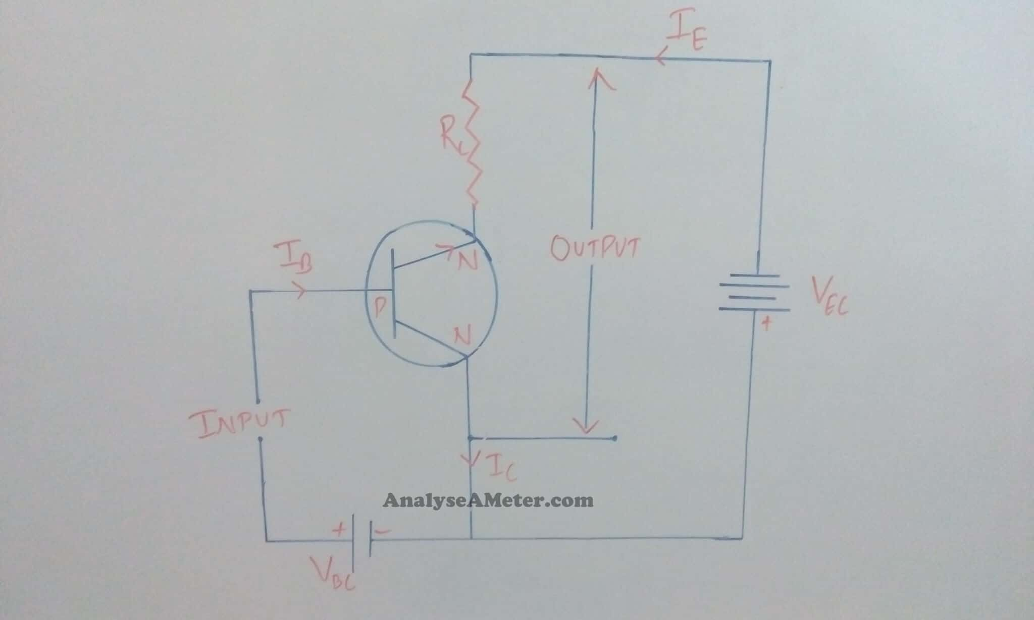 Transistor Configurations Guide Analyse A Meter Commonbasenpntransistorcircuitjpg Npn Common Collector Configuration
