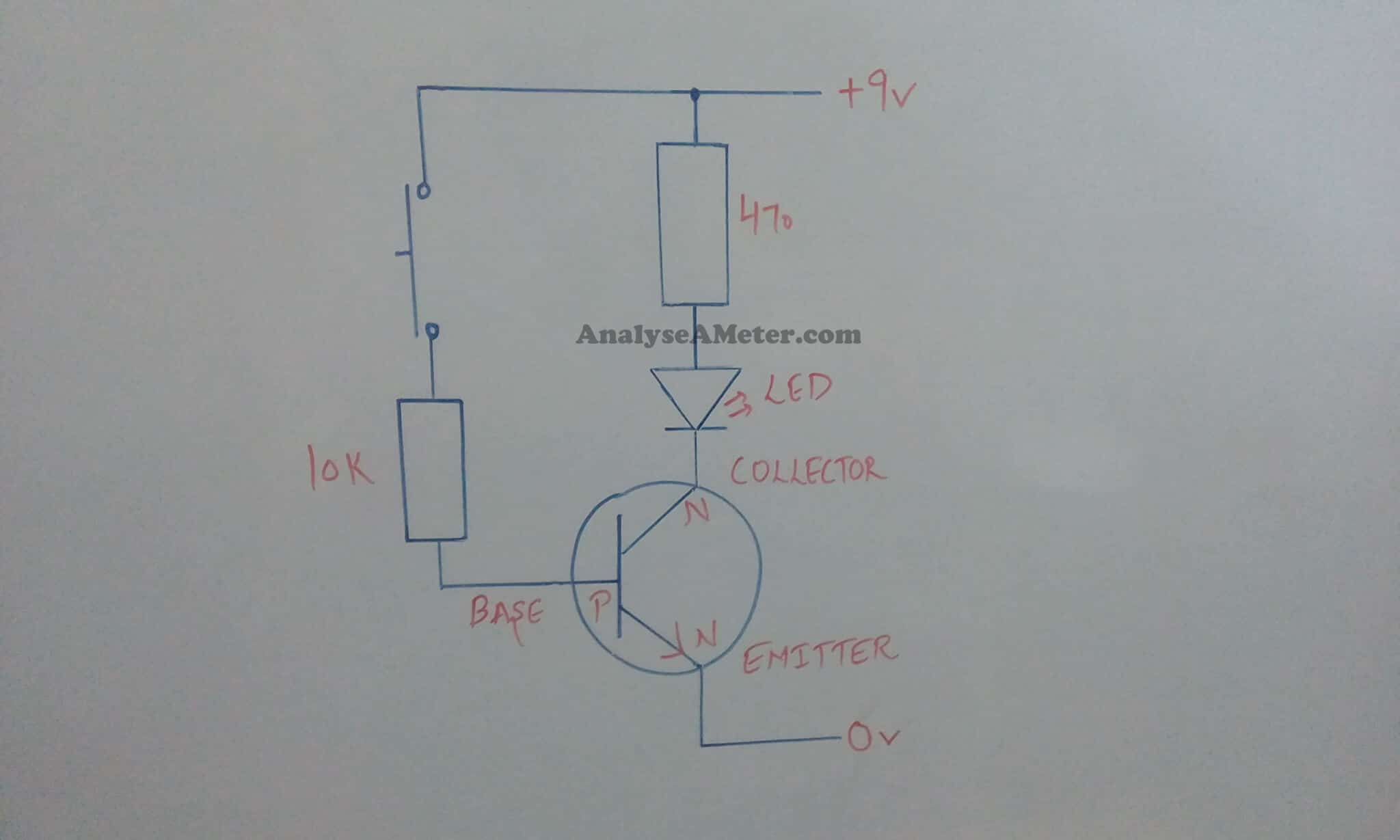 Transistor As A Switch Brief Description Analyse Meter Npn Circuit Testing Switching