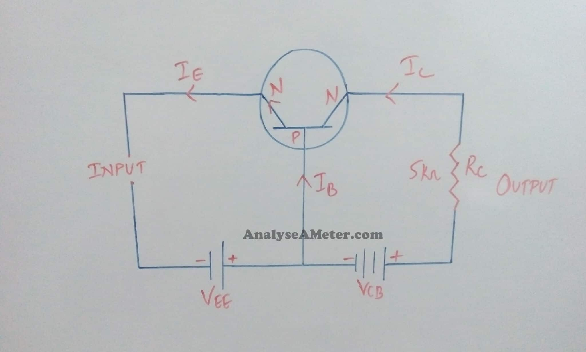 Transistor As An Amplifier Common Emitter Circuit With Transistors
