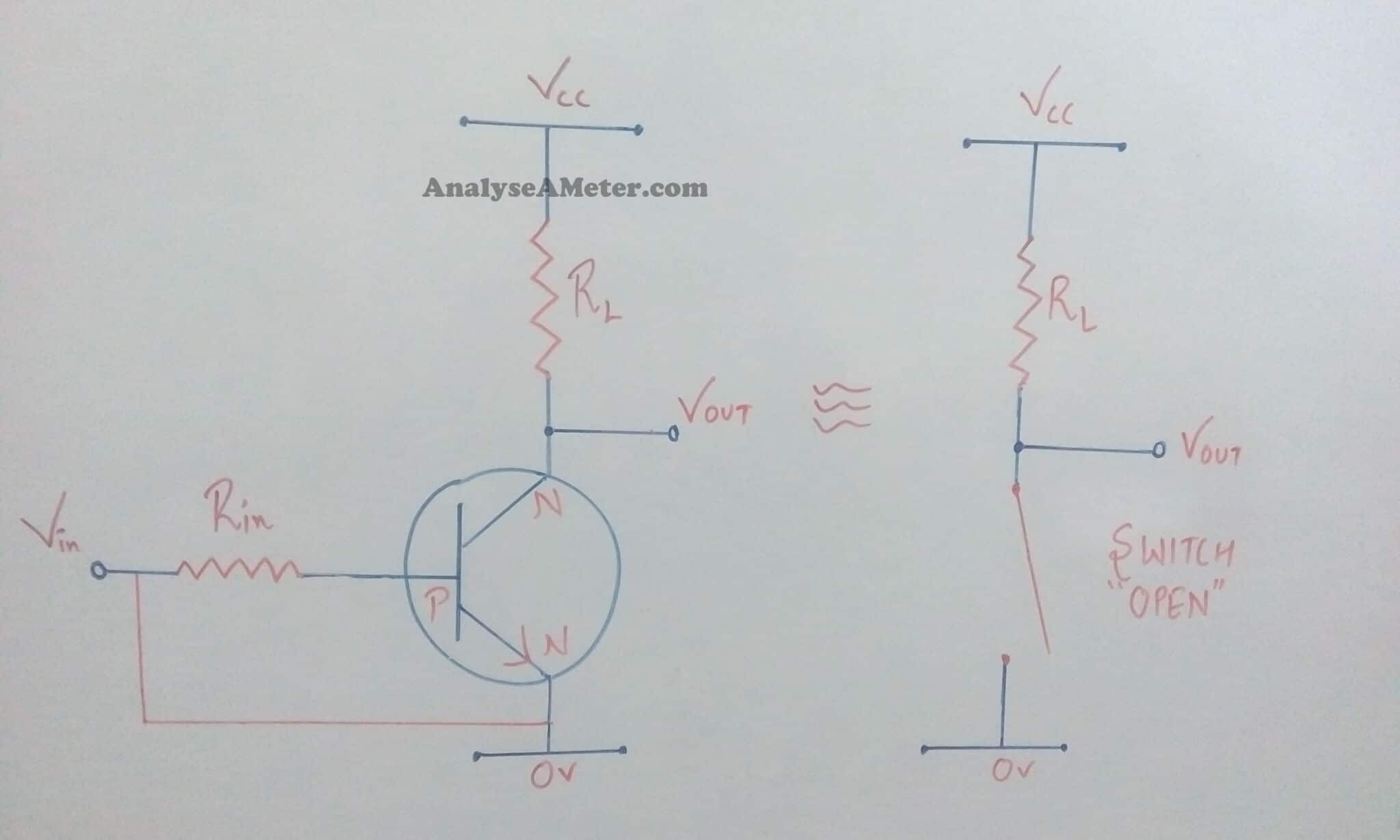 Transistor As A Switch Brief Description Analyse Meter Simple Circuit Cut Off Region Characteristic