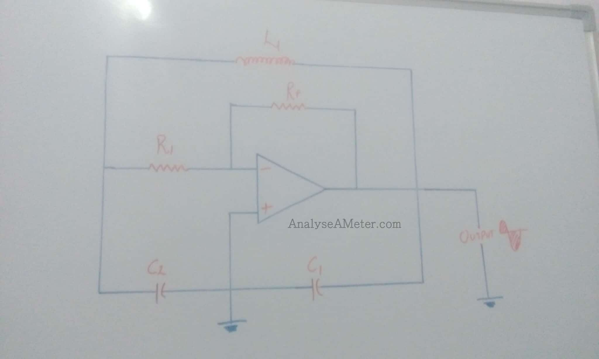 Colpitts Oscillator Brief Guide Analyse A Meter Thermometer Circuit Schematic Using Operational Amplifiers Op Amp Image