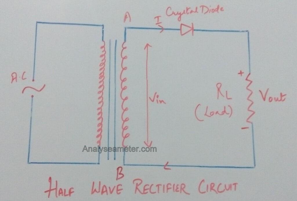 Half Wave rectifier circuit image