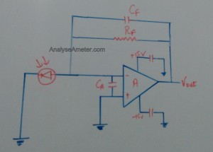 Photovoltaic mode of operation circuit image