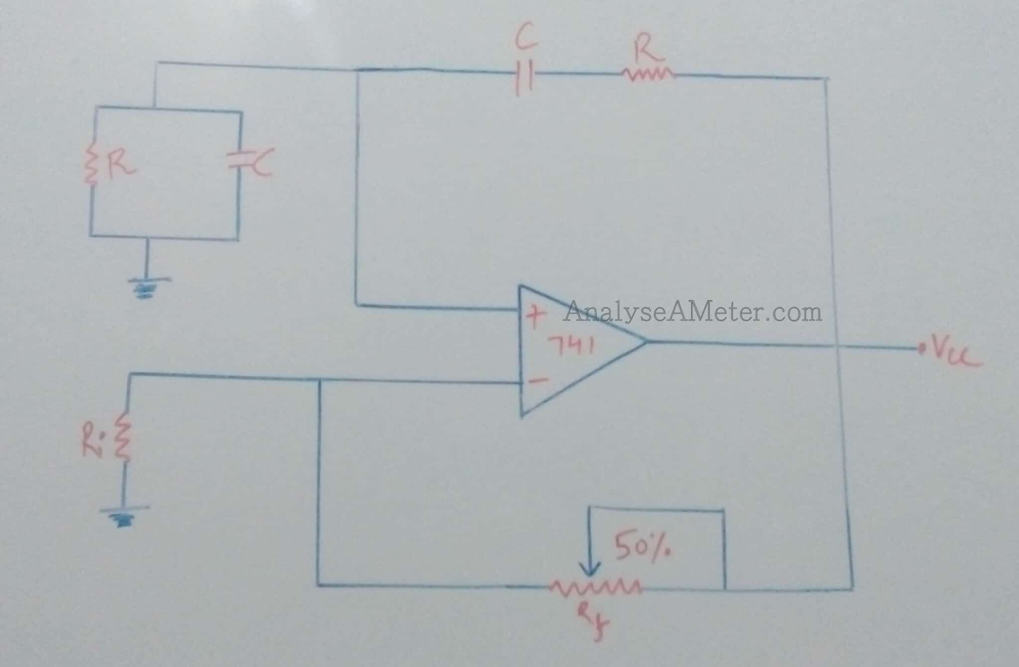 Wien Bridge Oscillator Circuit And Design Using Op Amp Analyse A Meter Diagram