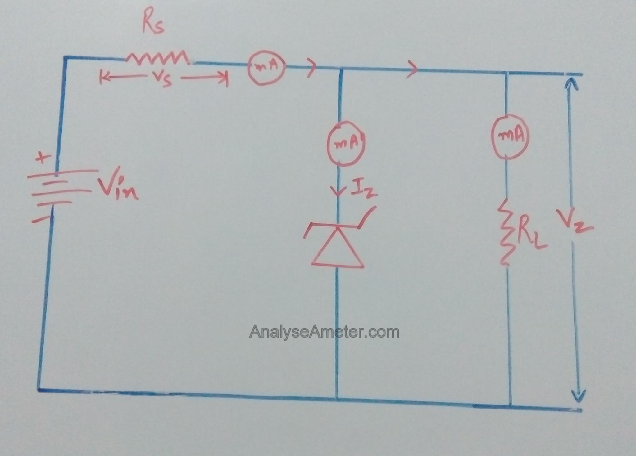 Zener Diode Working And Application Analyse A Meter Diodes In Circuits As Voltage Regulator Image