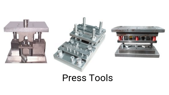 Metal stamping press tools