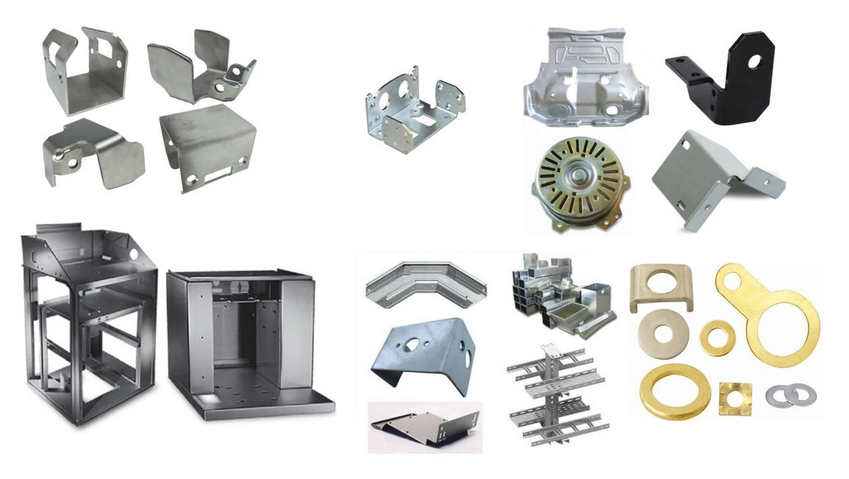 Types of sheet metal stamping products images